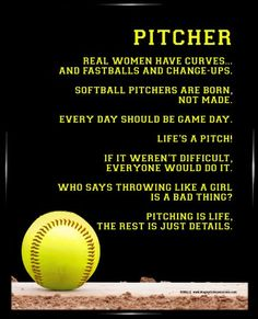 Poster features funny sayings and inspirational softball quotes that softball players will love. Poster features funny sayings and inspirational softball quotes that softball players will love. Inspirational Softball Quotes, Baseball Quotes, Sport Quotes, Softball Sayings, Softball Cheers, Golf Quotes, Baseball Mom, Team Quotes, Friend Quotes