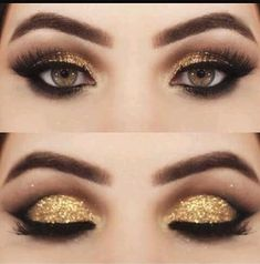 Gold glitter cut crease hot or not?  #hotornot #slay #gold #glitter #goldglitter #crease #cutcrease #glittercutcrease #goldglittercutcrease #eyeshadow #eyes #makeup #love #hot #brows #eyebrows #warm #smokey #soultry #classic #classy