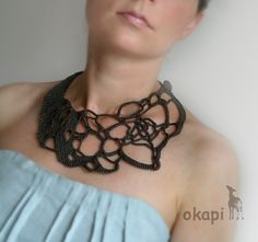 Crochet okapi summer necklace