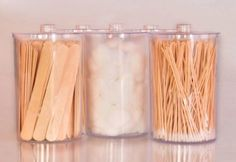 Clear Sundry Jars, Unlabeled, set of 5 each Home Beauty Salon, Beauty Salon Decor, Beauty Bar, Cafeteria Retro, Esthetics Room, Beauty Room Decor, Lash Room, Spa Design, Decoration