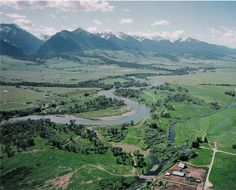 Aerial Photography of Paradise Valley Montana and the Yellowstone River
