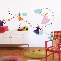 Fairies Decorative Wall Stickers - Nouvelles Images