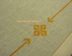 Il Piacere del ricamo: punto perugino Bargello, Hardanger Embroidery, Diy And Crafts, Cross Stitch, Game, Projects, Embroidery, Crossstitch, Punto Croce