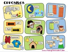The English Student, www.theenglishstudent.com, English Student, ESL opposites, ESL synonyms, ESL vocabulary, comparatives, adjectives