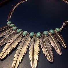 Boho feathers necklace