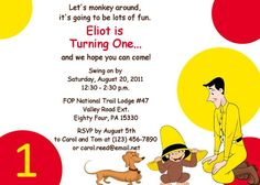 Curious George Monkey Around Birthday Party by OnceUponADezign, $12.00