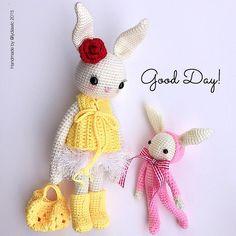 Mesmerizing Crochet an Amigurumi Rabbit Ideas. Lovely Crochet an Amigurumi Rabbit Ideas. Crochet Animal Patterns, Stuffed Animal Patterns, Crochet Patterns Amigurumi, Amigurumi Doll, Crochet Animals, Crochet Dolls, Crochet Art, Crochet Flowers, Crochet Rabbit