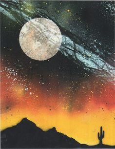 Spray paint art by Dennis Durst.