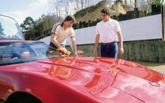 NFL Quarterback Jim Kelley and his 1984 Corvette