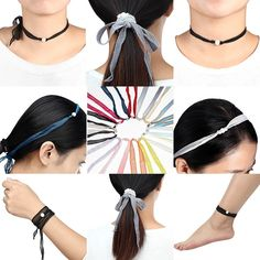 Amazon.com: 3PIC Pearl Dyed Silk Choker Necklace / Wrap Bracelet / Hair Band / Anklets For Women Girl (Red/Light Blue/Gradually Varied Gray): Clothing