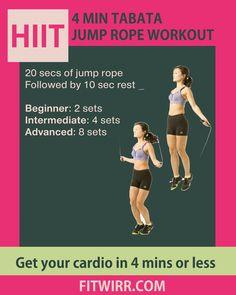 Tabata-HIIT Jump rope workout-cardio at home