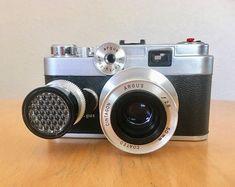 Vintage Argus C-44 35mm Camera with Selenium Light Meter and Leather Case 1958-1962 #digitalcamera