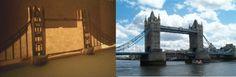 Шаблоны киригами - лондонский мост