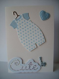 Personalised Baby Boy Card  Cute by AuntyJoanCrafts on Etsy, £2.50