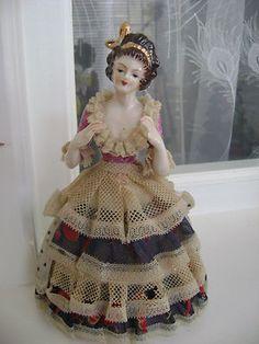 Vintage Rare Victorian Porcelain Lady Figurine made in Japan | eBay