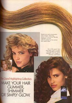 1987 Clairol Light Effects Hair Color Dye Print Ad Vintage Advertisement VTG 80s | eBay