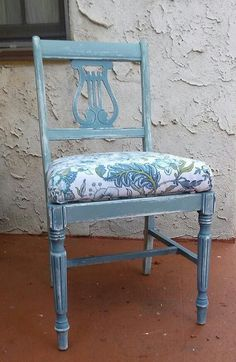 Farmhouse Chair-  distressed. Milk Paint and Annie SloanChalk Paint Furniture Rescue Los Angeles, Etsy