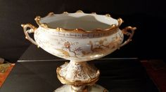 Asian  Compote Bowl Lenwile China  Antique by frankiesfrontdoor, $105.00