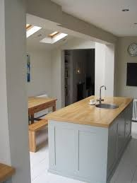 galley kitchen extension ideas and loft new home interior design extensions 1930s Kitchen Extension, Extension Veranda, Kitchen Extension Victorian Terrace, Kitchen Extension Side Return, 1930s House Extension, Open Plan Kitchen, New Kitchen, Kitchen Decor, Semi Open Kitchen