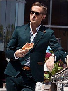 Ryan Gosling - great suit/hair/shades
