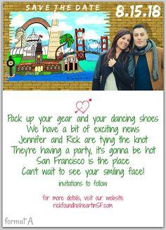 Save The Dates San Francisco Wedding Invitations Rehearsal