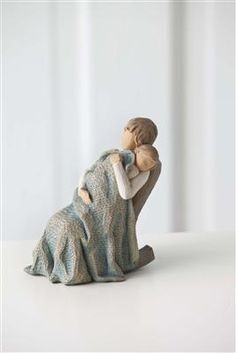 The Quilt figurine by Willow Tree. The tender warmth and coziness of a sleeping child are quiet memories that never quite fade away. #willowtree #parenting @demdaco