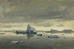 Edward Seago - Antarctic Dusk. Painted during his voyage to Antarctica.