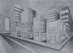 Two Point Perspective City by ~Aude--Sapere on deviantART