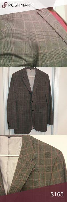 XL Ben Sherman Blazer Grey plaid blazer with pink accents and jagged collar. Ben Sherman Jackets & Coats Lightweight & Shirt Jackets