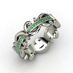 Eternity Band-AMAZING (with emerald for the month we were married) - by Repinly.com