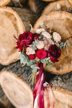 Свадебный букет марсала  Bridal bouquet marsala