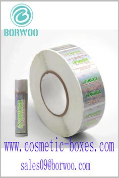Custom label for lip balm. Using the printed content on the lip balm label can improve the recognition of lip balm products and brands. Blister Packaging, Perfume Packaging, Bottle Packaging, Cosmetic Labels, Cosmetic Box, Cosmetic Packaging, Cardboard Boxes With Lids, Lip Balm Labels, Custom Packaging Boxes