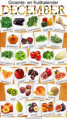 December: groente- en fruitkalender.