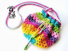 Free crochet pattern - Rainbow Bag