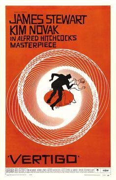"Vintage Movie Poster- Alfred Hitchcock's ""Vertigo"""