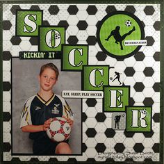 Soccer  **Moxxie** - Scrapbook.com  Cute layout for all sports