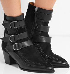 Isabel Marant Dickey leather and suede boot