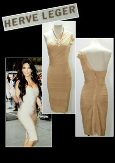 Herve Leger bandage dress (designer for the stars) S $425 *Retail $1,390* (31-1483) ME