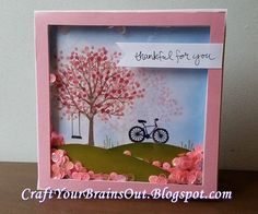 Craft Your Brains Out: Cherry Blossom Shaker Card
