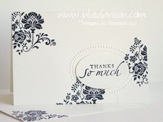 Julie's Stamping Spot -- Stampin' Up! Project Ideas Posted Daily: Black & White Fresh Vintage Notecard
