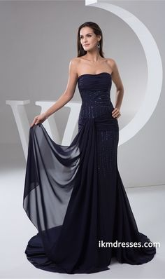 http://www.ikmdresses.com/Mermaid-Trumpet-Chiffon-Ruched-Brush-Sweep-Train-Rehearsal-Dinner-Dress-p21665