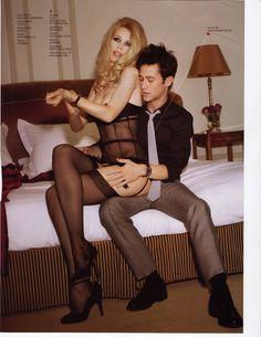 Joseph Gordon Levitt and Claudia Schiffer