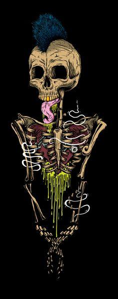 Black Skulls Illustration Series by Luan Brombim Graffiti, Skull Artwork, Skull Drawings, Arte Obscura, Skeleton Art, Black Skulls, Skull Tattoos, Art Tattoos, Punk