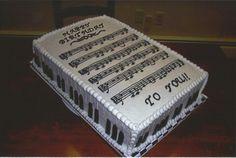 Happy Birthday Sheet Music Cake  on Cake Central