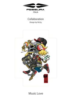 Fessura x Artist collaborations Bag pack_Music love by Nicky