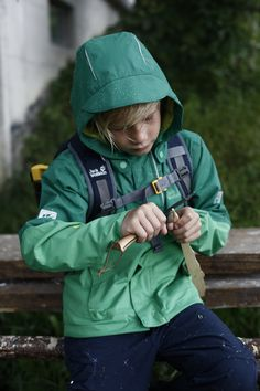 Learning from and with nature Raincoat, Learning, Children, Nature, Jackets, Stuff To Buy, Rain Jacket, Young Children, Down Jackets