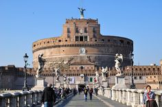 Also known as the Mausoleum of Hadrian, Castel Sant'Angelo