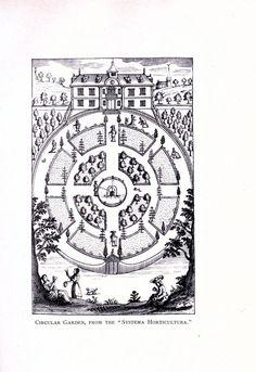 Design - Architectural - Garden Design - English pleasure gardens - Circular garden