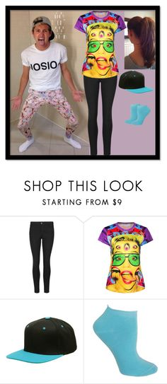 """""""Funny Faces with Niall Horan"""" by simranpatel13 ❤ liked on Polyvore featuring Cyrus, Indigo Collection and Ozone"""
