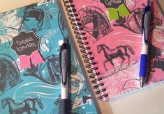 Personalized Notebooks Horse Lovers, spiral notebook, blank book, spiral bound, school notebook,cute